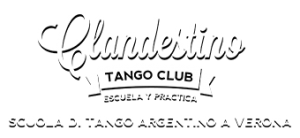 logo clandestino tango club bianco