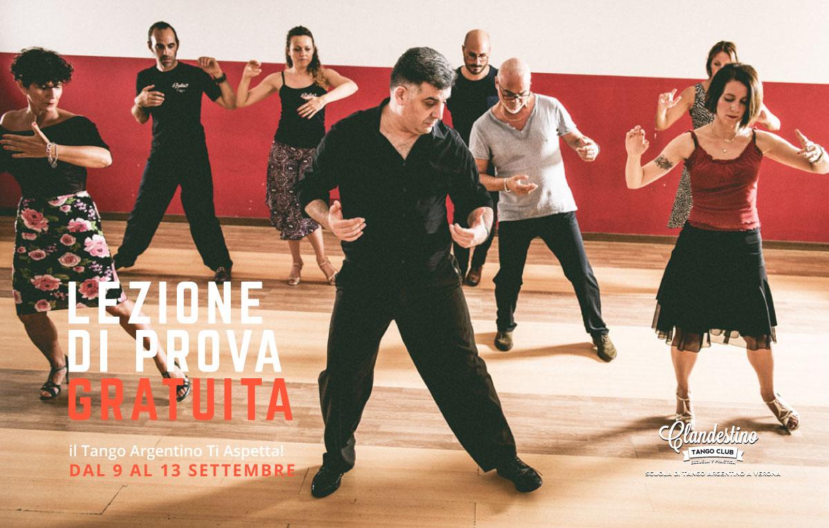 Clandestino tango club - lezione di prova gratuita settembre 2019